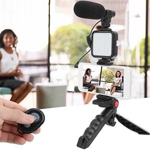 Labuda Juego de fotografía de teléfono móvil, Juego de fotografía de Video de plástico, para grabación de Video Transmisión en Vivo en Interiores Grabación de Video en transmisión en Vivo al Aire
