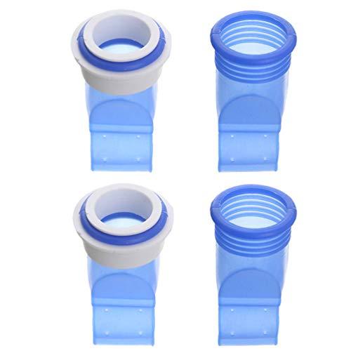 VOSAREA 4Pcs Tuyau de Vidange Tuyau Joint Bouchon D'égout Joint Anneau Machine à Laver pour Salle de Bain Cuisine (Bleu)