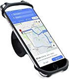 Bike Phone Mount, Bicycle Holder, Stable 360°Rotation Bicycle Accessories, for Any Smartphones, Universal Silicone Motorcycle Phone Mount Bicycle GPS Units Holder, Black