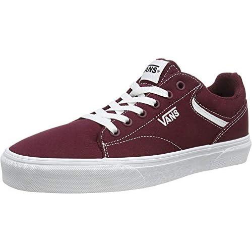 Vans Seldan, Sneaker Uomo, Rosso ((Canvas) Port Royale/White 8J7), 42 EU