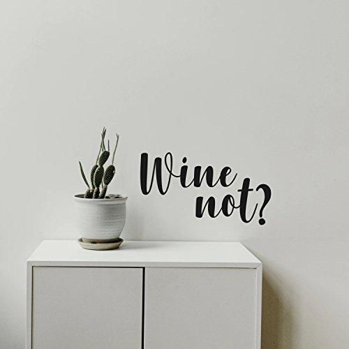 Pulse Vinyl Wein Nicht? Funny Wandaufkleber–Vinyl Wand Kunst Aufkleber–33x 55,9cm Dekoration Vinyl Aufkleber–Wohnzimmer Wand Decor Sticker–Weingut Schilder–Bar Aufkleber