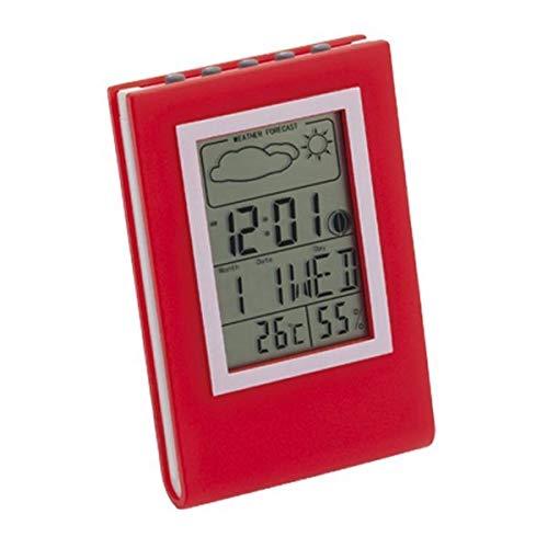 Eurroweb multifunctioneel weerstation met display – weerstation kleur – rood