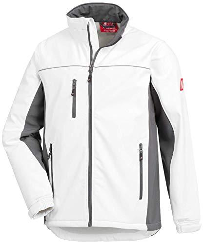 Nitras Motion Tex Light 7153 Softshell-Jacke für die Arbeit - Weiß - 5XL