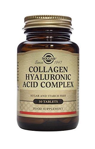 Solgar Ácido Hialurónico Complex, Prevención del Envejecimiento, Reparación de Piel Apagada y Deshidratada, Contiene Vitamina C, 30 Comprimidos