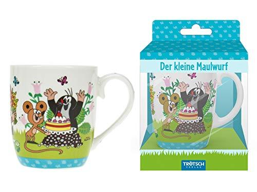 Trötsch Der kleine Maulwurf Kindertasse Torte: Geschenktasse aus Porzellan