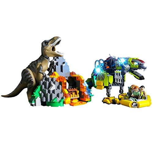 QZPM Led Beleuchtungsset Für Lego Jurassic World T. Rex Vs. Dino-Mech,Kompatibel Mit Lego 75938 Bausteinen Modell - Ohne Lego Set
