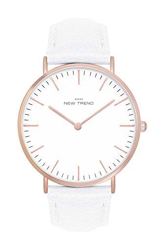 New Trend - Love for Accessories Damen Uhr analog Quarzwerk mit Kunst-Leder-Armband FR-MV08-89R1