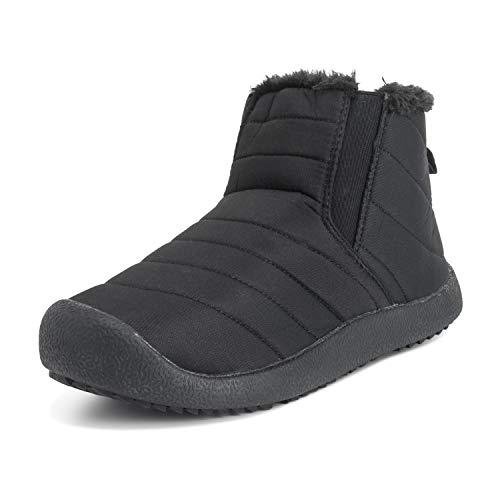 Adultos Unisex Alto Durable Piel Sintética Invierno Calentar Al Aire Libre Zapatillas Zapatos - W6/M7 - BLK39 AEA0550