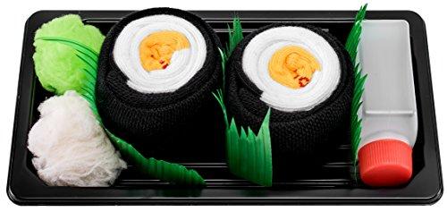 Rainbow Socks - Damen Herren - Sushi Socken Oshinko Maki - Lustige Geschenk - 1 Paar - Größen 36-40
