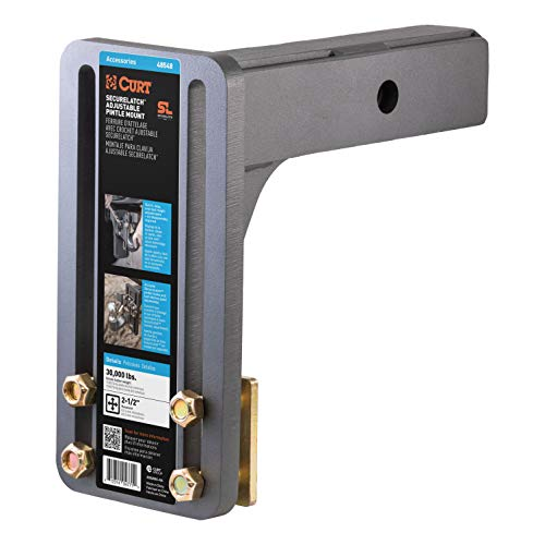 Read About CURT 48548 SecureLatch Adjustable Pintle Mount Plate, 2-1/2-Inch Shank, 30,000 Pounds