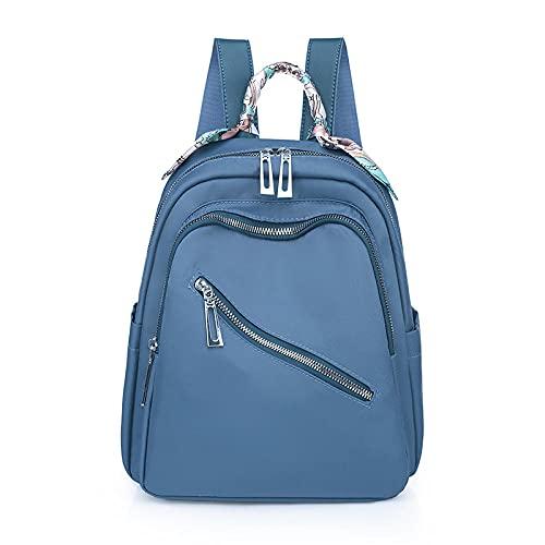 Bolsa de Mujeres Casual Damas Mochilas Moda Simple Viaje Mochila Mochila Bolsa de Estudiante-Azul