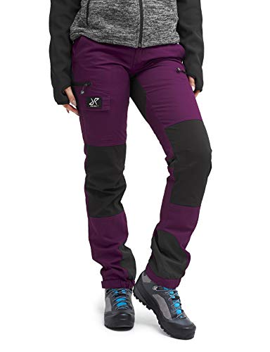 RevolutionRace Nordwand Pants Damen Wasserabweisende, Atmungsaktive und Strapazierfähige Outdoorhose zum Wandern, Trekking, Camping, Klettern, Mountainbiken und Agility, Purple Rain, 44