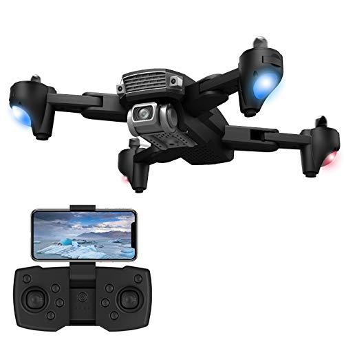 Soolike Drone con Camara 6k Píxeles,Plegable HD Fotografía Aérea GPS 3KM Aviones De Control Remoto Altura Fija Quadcopter, App WiFi FPV, Modo Sin Cabeza,Giroscopio De CuatroEjes (Lente Dual).