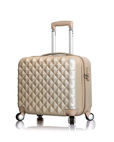 スーツケース キャリーケース 機内持込 1005 四輪キャスター ABS軽量ダイヤルロック (シャンパン)