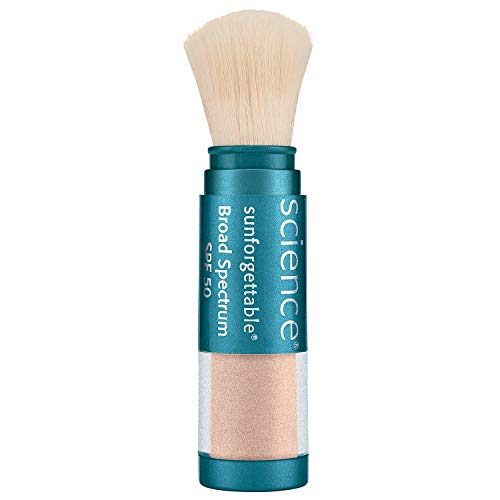 Colorescience Brush-On Sunscreen, Sunforgettable Mineral Powder for Sensitive Skin, Broad Spectrum SPF 30 UVA/UVB Protection