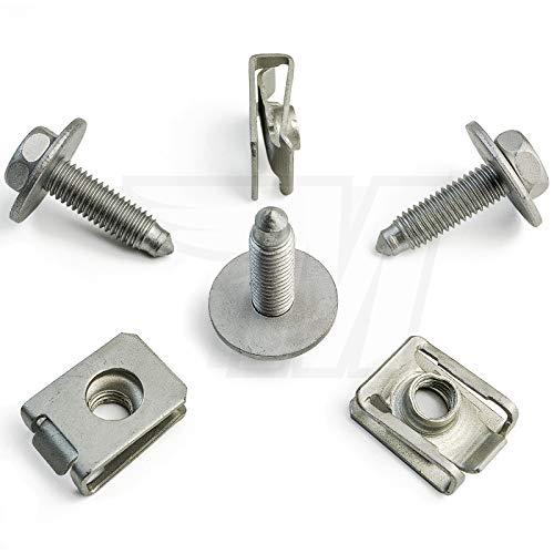 5x Set Metall Halteklammer + M8 Schraube für Motor-, Unterbodenschutz
