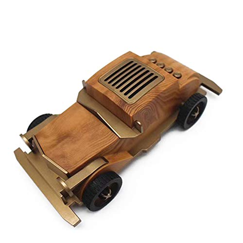 Y-SOUND Wooden Bluetooth Speaker, Subwoofer Wireless Mini Car Speaker Gift, Vintage Classic Car, Best Gifts for Kid,A