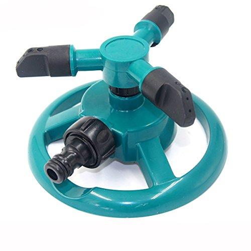 EgBert Garten-Bewässerungswerkzeuge Bewässerungsgesetz Sprinkler Automatische DREI Waffen 360 Grad Rotierende Spray-Düse