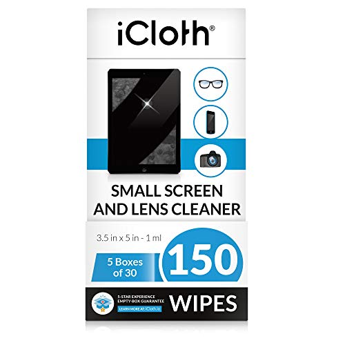iCloth Lens and Screen Cleaner ProGrade Individually Wrapped Wet Wipes Wipes for Cleaning Small Electronic Devices Like Smartphones and Tablets Box of 150