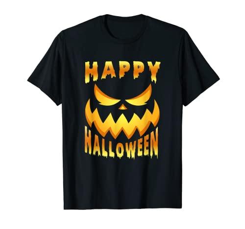Cara de calabaza terrorfica para Halloween. Camiseta