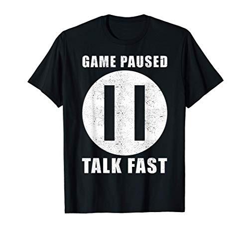 Juego en pausa - jugador de ordenador - Gamer Camiseta
