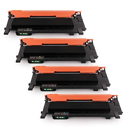 Hitze Samsung CLT-P404 Toner CLT-K404S CLT-C404S CLT-M404S CLT-Y404S Compatibile per Samsung Xpress C430W SL-C430W C480 SL-C480fW SL-C480 SL-C480FN C432 C482 (1 Nero,1 Ciano,1 Magenta,1 Giallo)