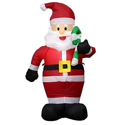 Décorations extérieures de Noël Père Noël gonflable de 1,2 m de Noël avec des lumières LED lumineuses Decor Blow up Décorations de jardin éclairées, grandes décorations de jardin pour jardin intérieur