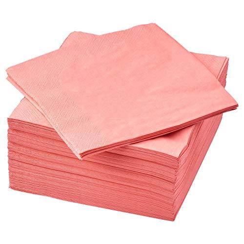 IKEA FANTASTISK - Tovaglioli di carta a 3 veli, 40 x 40 cm, confezione da 150 pezzi, colore: rosso chiaro e rosa