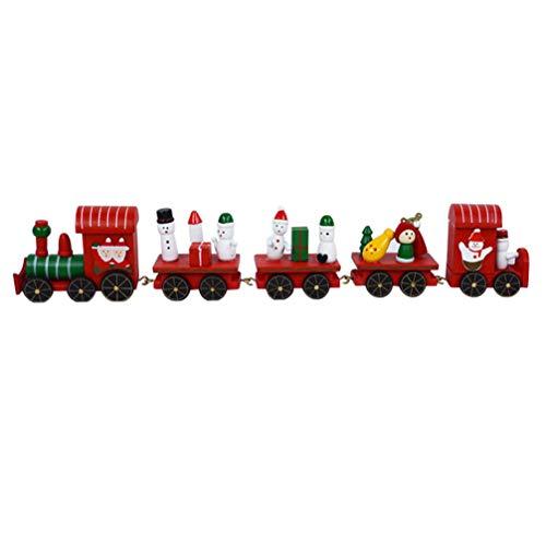 Happyyami Decorazioni Natalizie Trenino Mini Trenini Di Legno Set Regalo Di Natale Giocattoli Decorazioni Per Feste