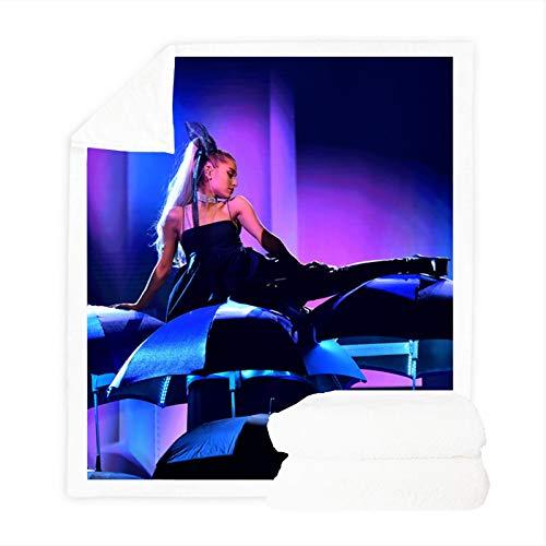DDONVG Ariana Grande - Manta polar para adultos y niños, impresión digital 3D, microfibra, suave y cálida, para sofá y sofá (100 x 140 cm, 8)