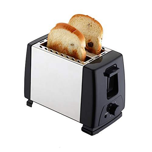 AI XIN 2 schijven Extra brede sleuf broodrooster, slide-out kruimellade, roestvrij staal brood broodrooster met 6 toast-instellingen, start-ontbijt-machine auto-afsluit- en afbreekknop