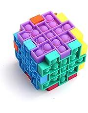 HBDY DIY Splicing Cube Sensory Speelgoed voor Combinatie Play Kan Cube ofPop It Fidget Toyy combineren