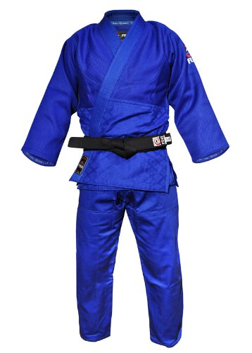 Fuji Double Weave Judo GI Uniform, Blue, 5