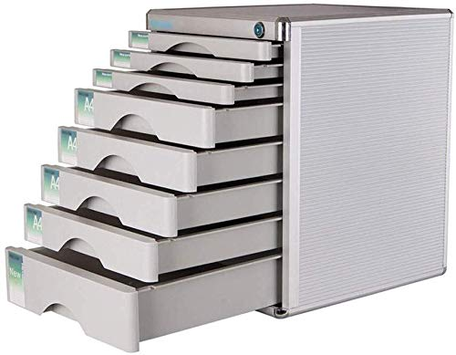 Lock Multi-Layer Kunststof Lade Type Office Opslag Archief Box Kleur-Silver Gevoelige Vormgeving Volume(30x36x40.5cm) Opbergdoos ZILVER