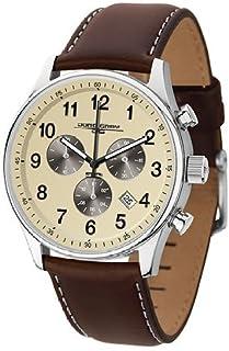 ヨーグ グレイ Jorg Gray JG5500-22 Men's Watch Chronograph Cream Dial With Espresso Brown Leather Strap 男性 メンズ 腕時計 【並行輸入品】