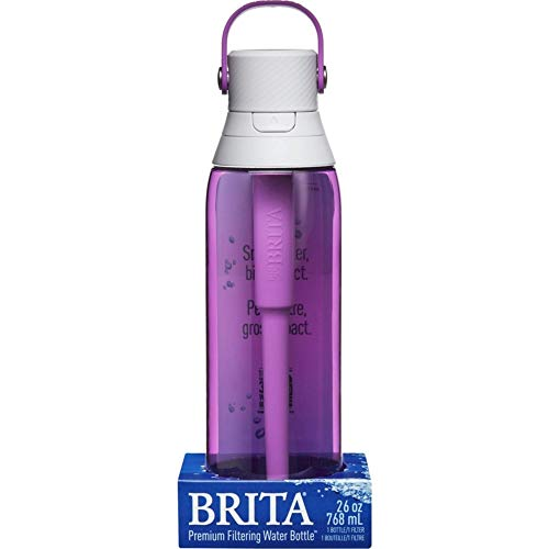 Brita 26 Ounce Premium Filtering Water Bottle with Filter - BPA Free - Orchid