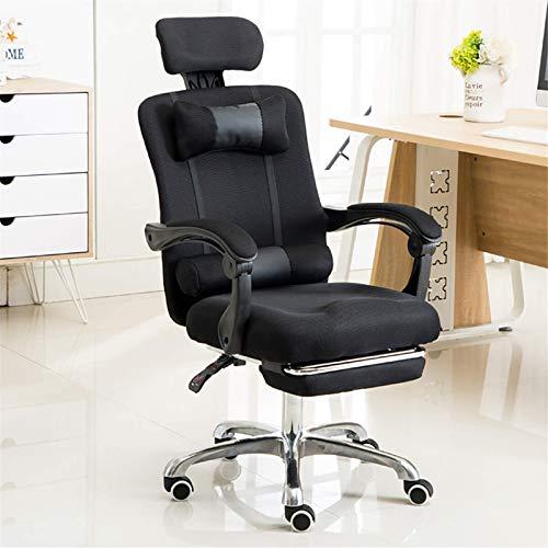 Zjcpow Verstellbarer ergonomischer Bürostuhl mit Netzsitz, verstellbare Rückenlehne, Gaming-Computer (Größe: wie abgebildet; Farbe: 1)