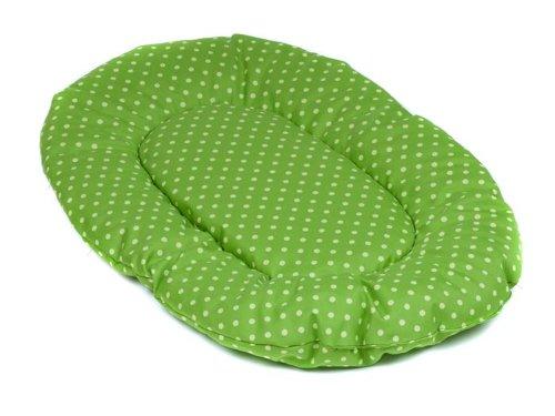 adena Hundekissen oval 108 x 68 cm - Tupfen grün