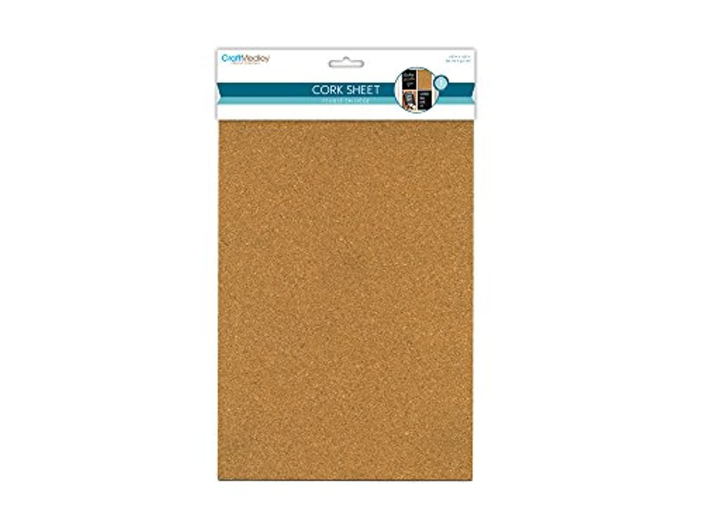 CraftMedley DIY Cork Sheet, 7.87in by 11.81in, 2mm Thick, 7.87