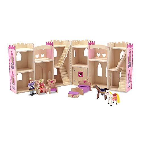 Melissa & Doug- Fold & Go Castello della Principessa Pieghevole, Colore Rosa, 3708