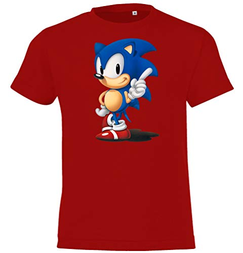 Kinder T-Shirt Modell Sonic, Gr. 106/116 (6 Jahre), Rot