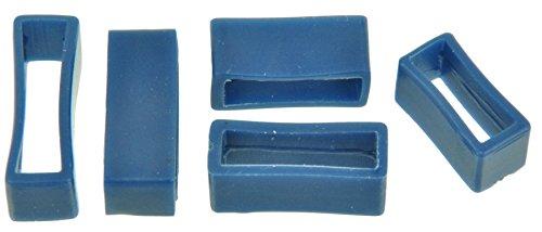 PVC Taucher Uhrenarmband Schlaufen Blau 16-18-20-22-24mm Armband Band Keepers 22mm