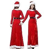 【 本格的 】monoii サンタ コスプレ レディース サンタコス クリスマス 衣装 服 サンタクロース 仮装 ロング スカート 女性 d535