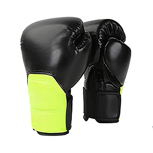 Boxen-Trainings-Handschuhe aus Leder Boxhandschuhe Adult Muay Thai Kickboxen Sparring Training Mitts Boxsack-Training (Farbe: Blau, Größe: 10 Unzen) 1yess (Color : Green, Size : 10oz)