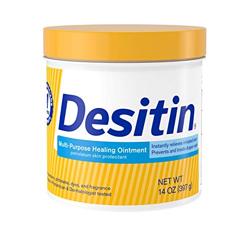 Desitin Multipurpose Baby Ointment with White Petrolatum for Treatment & Relief of Diaper Rash, Dry Skin, Minor Burns & Chapped Lips for The Whole Family, Fragrance-, Phthalate- & Paraben-Free, 14 oz