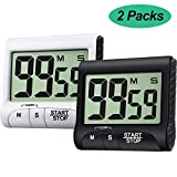 2 Pieces Digital Kitchen Timer Large Display Kitchen Timer Magnetic Electronic Countdown