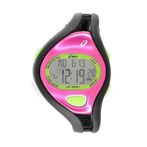 Asics corredores reloj divertidos (negro/rosa)