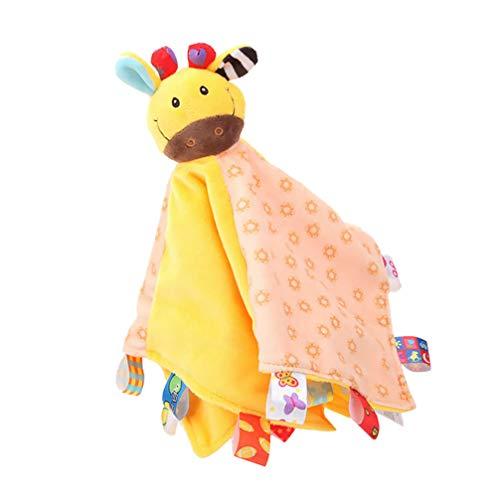 Tomaibaby Baby Sicherheitsdecke Beißring Stofftier Plüsch Puppe für Kleinkind Neugeborenen Chewbie Aktivität Spielzeug (Zufälliges Muster)