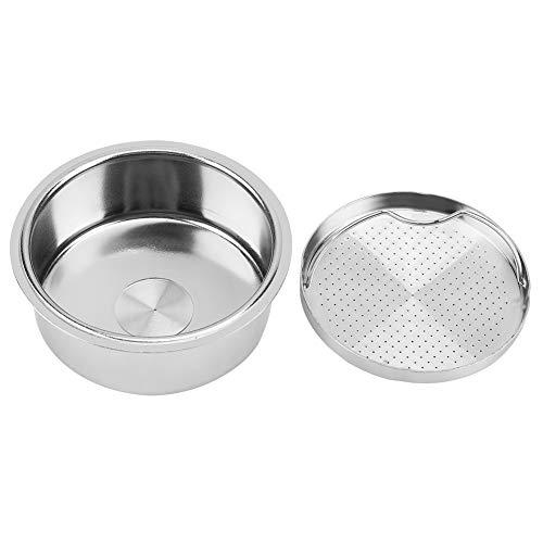 Filtro da máquina de café do café, filtro de aço inoxidável removível da cesta do filtro de café para a máquina de café da pressão