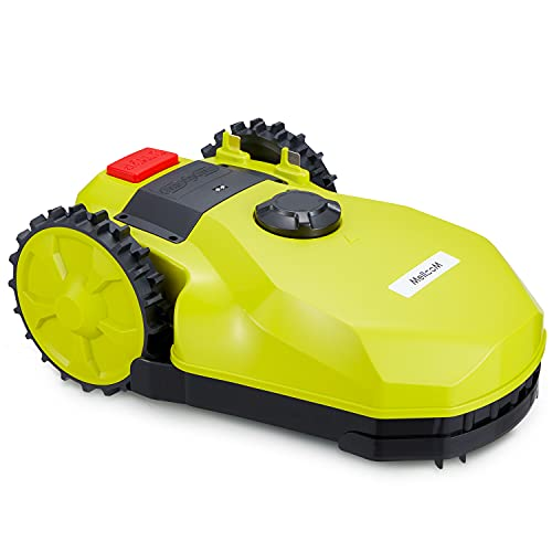 YOLENY Battery Powered Robot Lawn Mower, 4305 sq ft Automatic Lawn Mower, Suitable for Medium – Large Yards, No Need for Bagging, Chartreuse